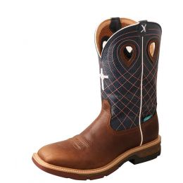 Twisted X Alloy Toe Western Work Boot with CellStretch MXBAW01