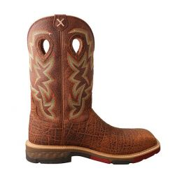 Twisted X Men's 12 inch Nano Toe Western Work Boot with CellStretch MXBN001
