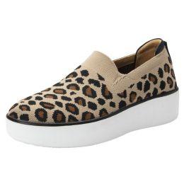Alegria Traq Mystiq Peeps Leopard Casual Comfort Shoes MYS-5211
