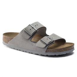 Birkenstock Dove Gray Arizona Soft Footbed Nubuck Leather Ladies Sandals N1020973