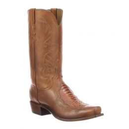 Lucchese Cognac Bynum Mens Exotic Western Boots N1176.73