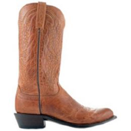 N1547-R4 Tan Mad Dog Goat R Toe 4 Heel Lucchese Mens Cowboy Boots