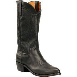 N1597 Black Burnished Ranch Hand Lucchese Mens Western Cowboy Boots
