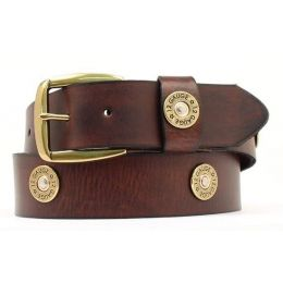 N2472002 Brown Leather Shotgun Shell Accent Nocona Mens Belts