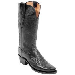 N4501-54 Black Buffalo Skin Lucchese Womens Western Cowboy Boots