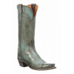 Lucchese Wynonna Mad Dog Goat Turquise Ladies Western Boot N4779.S54