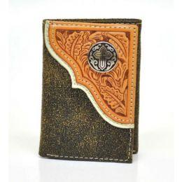 N5465648 Rodeo Tooled Cross Crackle Nocona Western Mens Wallet