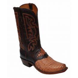 Lucchese Lebo's Hornback Caimen Tan Mens Exotic Boots N9796.73