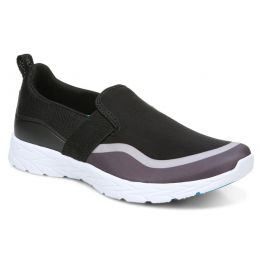 Vionic Black Grey Nalia Slip On Womens Comfort Sneaker