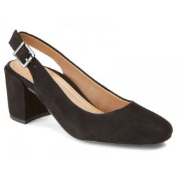 Vionic Black Nareen Womens Comfort Block Heel