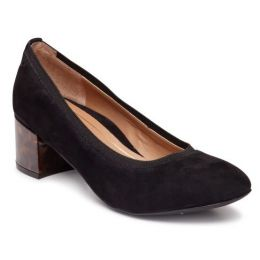 Vionic Black Natalie Womens Block Heel Dress Pump