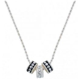 NC1032 Crystal Shine Three Ring Necklace