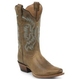 NL5009 Burnished Brown Cowhide 11inch Shaft Womens Cowboy Boots