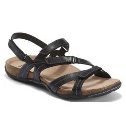 Earth Shoes Womens Black Sand Oahu Comfort Sandal OAHU-BLACK