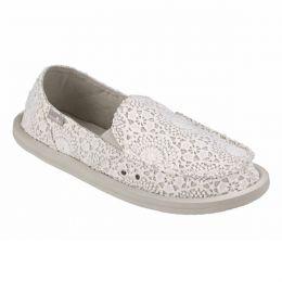 1015911 White/Oatmeal Donna Crochet Womens Comfort Sanuk Shoes