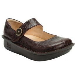 Alegria Women's Paloma Flutter Choco Signature Mary Jane Shoe PAL-275