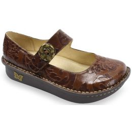 PAL-574 Paloma Yeehaw Brown Velcro Strap Comfort Alegria Womens Shoes