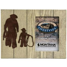 Gone Roping Father & Son 5x7 Montana Silversmiths Picture Frames