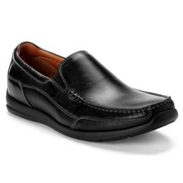 Vionic Black Preston Slip On Mens Dress Loafers PRESTON
