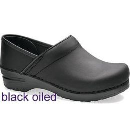 Professional Black Oiled Classic Closed-Back Clogs Dansko Womens Shoes