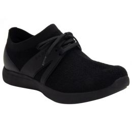 Alegria Black Qool The Fuzz Womens Comfort Shoes QOO-5001