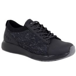 Alegria TRAQ Qest Black Comfort Womens Walking Shoes QES-5001