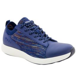 Alegria Traq Qest Navy Multi Womens Comfort Lace Up Sneaker QES-5470