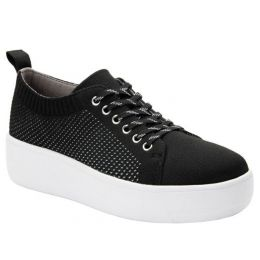Alegria Black Qruise TRAQ Lace-Up Sneaker QRU-5002