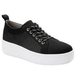 Alegria Black Qruise TRAQ Lace-Up Sneaker QRU-5002