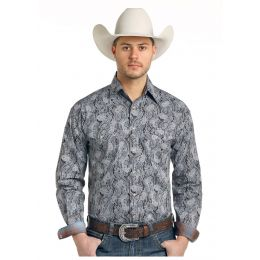 Panhandle Slim Ventura Vintage Print Mens Rough Stock Long Sleeve Shirt R0S-3174