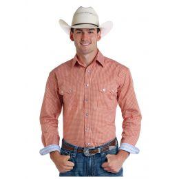 Panhandle Slim Rough Stock Arden Vintage Print Mens Long Sleeve Snap Shirt R0S5734