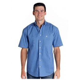Panhandle Slim Arosa Vintage Print Mens Short Sleeve Button Down Shirt R1D4031-46