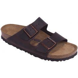 Birkenstock Arizona Habana Oiled Leather Womens Soft Footbed Sandals R452761