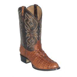 Cowtown Cognac Alligator Print Mens Western Boots R6094