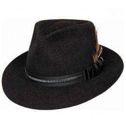 Bullhide Monte Carlo Black Wool Fedora Hat RAM-028BL