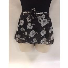 So Danca Blossom Wrap Skirt RDE-1728-SB203 Black