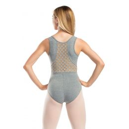 So'Danca Adult Tank Leotard With Stretch Honeycomb Mesh RDE-1921