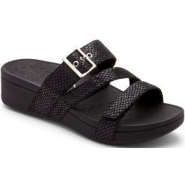 Vionic Rio Black Snake Adjustable Straps PLatform Comfort Womens Sandals RIO-BLKSNK