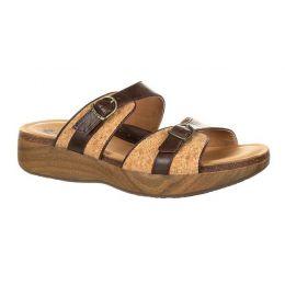 RockyBrands 4EurSole Dark Chocolate Cork Golden Day Womens Slide Sandals RKH288