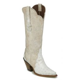 Reba by Justin Chelsea Pearl Ostrich Quill Womens Snip Toe Western Boots RML355