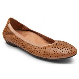 Vionic Toffee Robyn Womens Comfort Ballet Flats