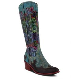 L'Artiste Turquoise Multi Rodeo Womens Tall Boots
