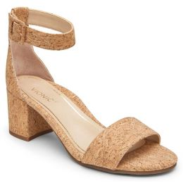 Vionic Rosie Cork Womens Block Heeled Sandals