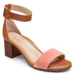 Vionic Rosie Coral Womens Block Heeled Sandals
