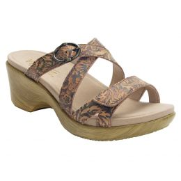 Alegria Roux Country Road Womens Adjustable Strap Slide On Wedge Sandals ROU-166