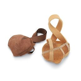 SO600L Nude Ladies Foot Thong With Heel Strap For Lyrical Dancing