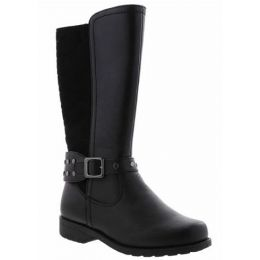 Rachel Samara Girl's Black Tall Zip-Up Fashion Boot SAMARA-Blk