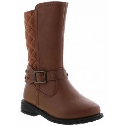 Rachel Samara Cognac Girl's Tall Zip-Up Fashion Boot SAMARA
