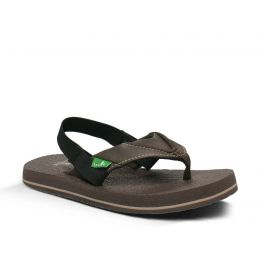 Sanuk Root Bear Cozy Sling Brown Kids Sandals SBS2914T-Brn