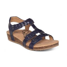 Aetrex Navy Reese Adjustable Gladiator Womens Sandals SC125